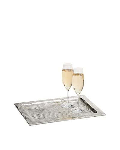 Torre & Tagus Aluminum Bark Serving Tray