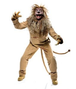 Wicked of Oz Cowardly Lion Adult Halloween Costume Size 42-44 Medium