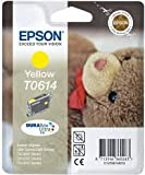 Epson Genuine T0614 Yellow Ink Cartridge - Epson T0614 yellow cartridge for use with d-series printer cartridge ref : C13T061440