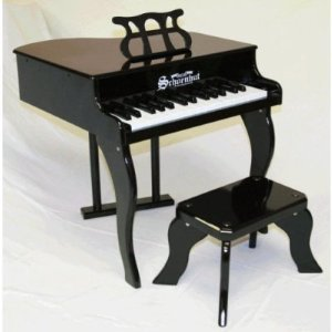 Schoenhut 30-Key Fancy Baby Grand with Bench,Black (Kids Piano With Bench compare prices)