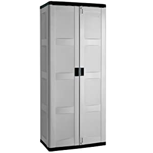 Amazon.com: Suncast C7200G Tall Utility Storage Cabinet: Home ...