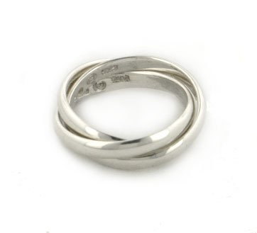 Sterling Silver 3-Band Russian Wedding Ring Sizes 456789101112B0006DNGL6