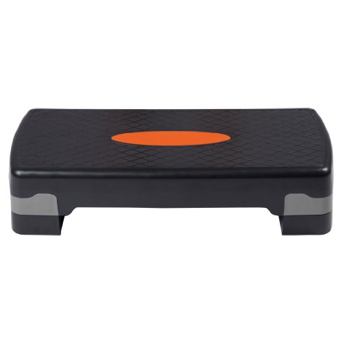 Ultrasport Aerobic Step/Stepper/Aerobic Fitness Stepper, Altezza Regolabile, Orange/Nero