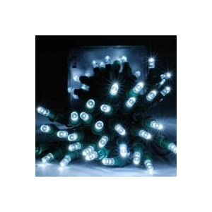 Click to buy GudCraft Solar Powered 35-Foot Holiday String Lights, 100 LED White from Amazon!