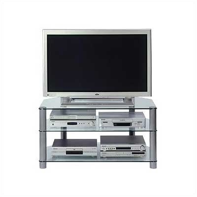 Cheap 41″ TV Stand with Clear Glass Shelves (AD3/93-S)