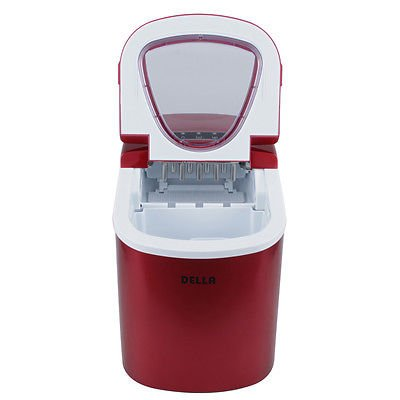 Portable Countertop Ice Cube Maker Compact Tabletop Touch Control 26 lb/day, Red (Microfridge Microwave Plate compare prices)