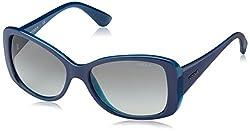 Vogue Gradient Square Sunglasses (0VO2843S227811Medium) (Top Bluette and Transparent Azure)