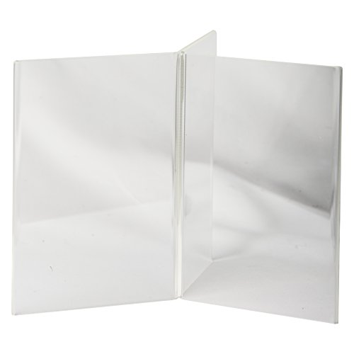 Clear-Ad - LHK-46 - Acrylic 6-Sided Restaurant Menu Table Stand (Pack of 4) (Restaurant Menu Templates compare prices)