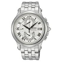 Premier Chronograph Stainless Steel Case and Bracelet Silver Dial Date Display