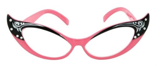 Elope Vintage Cat Eye Glasses (Pink)