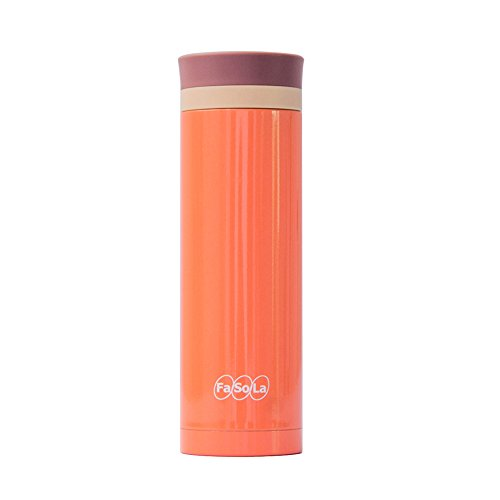 Fasola Portable Thermos Stainless Steel Vacuum Cup 500Ml Orange