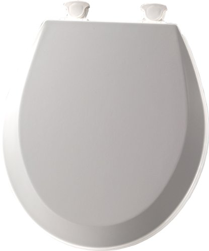 Bemis 500EC062 Molded Wood Round Toilet Seat With Easy Clean and Change Hinge, Ice Grey