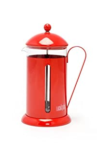 LaCafetiere Rainbow  8-Cup Coffee Press, Red