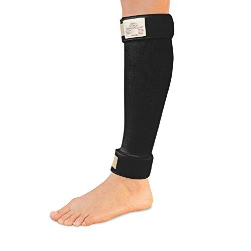 Cho-Pat Shin Splint Compression Sleeve, Black, Small, 8 Inch-11 Inch