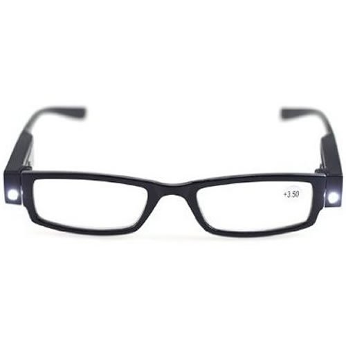 LED搭載 メガネ 老眼鏡 精密作業 夜釣り 【度数:+2.0】 MI-LEDROW -20