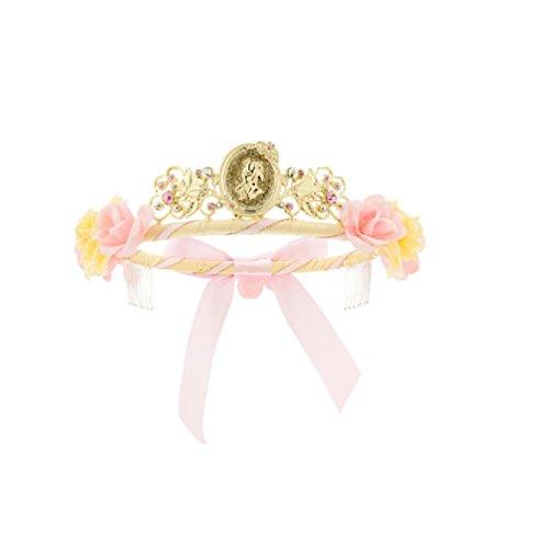 [Disney Store Deluxe Belle Beauty & the Beast Dress Up Costume Headband Girls Princess Crown] (Beauty And The Beast Costume Belle)