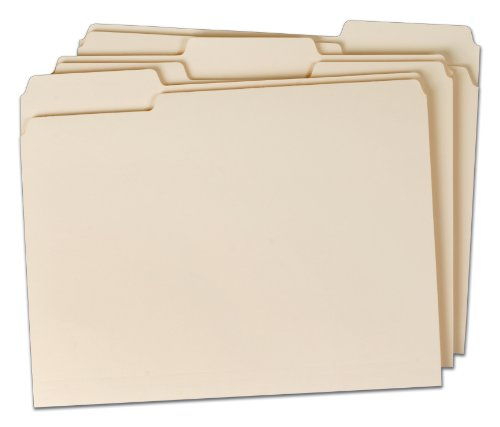 TOPS File Folders, Manila, Letter Size, 1/3 Cut Tabs, 12 Pack (TMM35010)