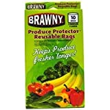 Brawny Produce Protector Reusable Bags, Set of 10