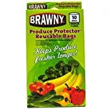 BRAWNY PRODUCE REUSABLE BAGS 5 MEDIUM 5 LARGE