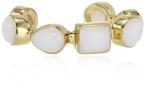 "Isharya White Jade Cuff Bracelet, 6.3"""