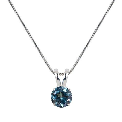 [ジュエリーキャッスル] Jewelry Castle ネックレス 1.5カラット シンセティックアレキサンドライト シルバー925 プラチナ仕上げ