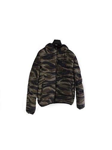 Piumino bimbo Blauer con cappuccio mimetico 14WBLKC06207 verde militare 16 anni