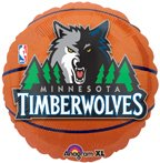 "Anagram International Minnesota Timberwolves Flat Party Balloons, 18"", Multicolor - 1"