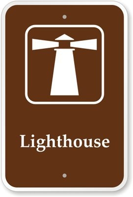 """Lighthouse (With Graphic) Sign, 18"""" X 12"""""""