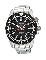 Seiko Men's SKA511 Stainless Steel Analog with Black Dial Watch