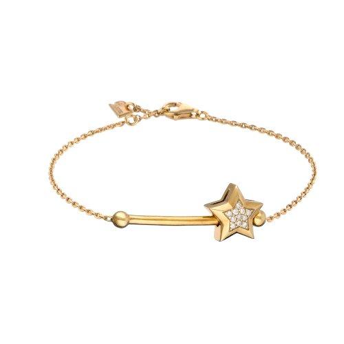 Parure Swing «Star» Yellow Vermeil Bracelet With 11 Diamonds - Parure Paris