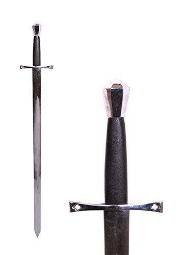 Mittelalterliches Schwert Einhänder aus Stahl Gesamtlänge 96 cm - Metall echt