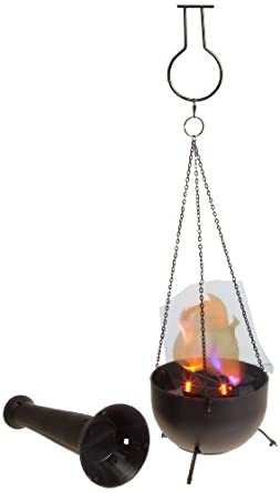 "Fortune FLM-100 4-in-1 Burning Torch Flame Light, 3-3/4"" Bowl Diameter x 5-3/4"" Height"