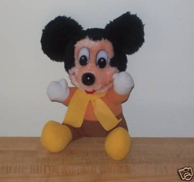 "Mickey's Christmas Carol: Plush Mickey Mouse As Mr. Cratchet (6"") - 1"