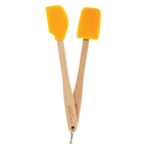 Tovolo Mini Silicone Spatula and Spoonula, Orange Peel - Set of 2