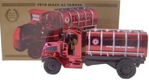 "Texaco ""Red Chrome"" 1918 Mack AC Bulldog Tanker Bank - 1"