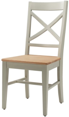 Kettle Interiors Wood Hamble Dining Chair with Kettle Interiors Wooden Seat with Paint Finish, Brown