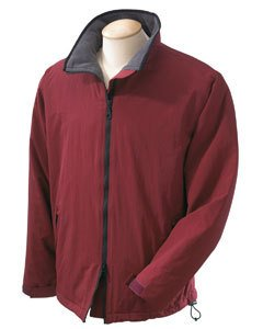 Devon & Jones Men'S Taslon Nylon Shell Sport Jacket - Small - Burgundy front-593440