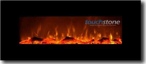 "Measure Onyx 50"" Electric Wall Mounted Fireplace"