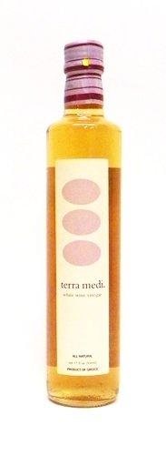 Terra Medi Greek White Wine Vinegar, 17 Ounce