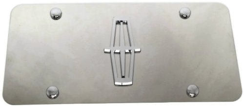 3D Lincoln Logo Front Mirror Stainless Steel License Plate Frame AUTHENTIC