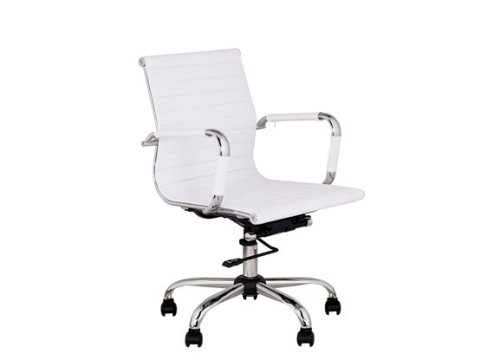 Best Deal Depot Mid-Back Leather adjustable Rotating Office