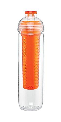 Infuse Grab & Go - Cold Drink Fruit Infuser Sport Bottle - Single Wall, 27Oz. Capacity - Orange front-633817