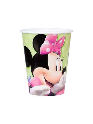 Hallmark Unisex Adult Disney Minnie Mouse Bow-tique 9 oz. Paper Cups Black Medium