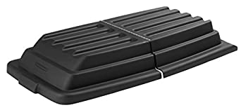 Rubbermaid Commercial FG102800BLA Executive Series HDPE Lid for Tilt-Truck, Domed