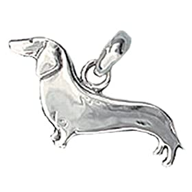 Dachshund Hand Made Sterling Silver Hound Dog Charm