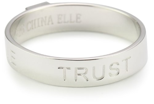 ELLE Jewelry Sterling Silver Love Hope Trust Ring
