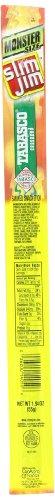 Slim Jim Monster Smoked Snacks, Tabasco, 1.94-Ounce Sticks (Pack Of 18)