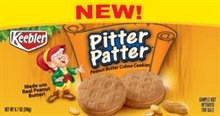 Keebler, Pitter Patter, Peanut Butter Creme Cookies, 10.5oz Box (Pack of 4)