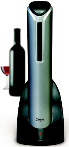 Ozeri Pro Electric Wine Bottle Opener With Free Foil Cutter and Elegant Recharging Stand. Super Sale While Supplies Last.