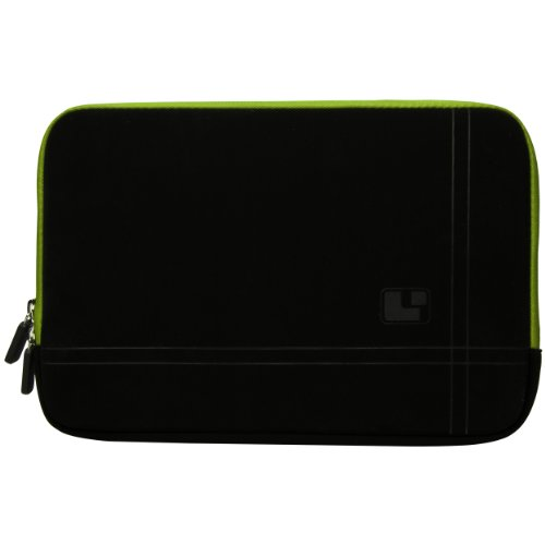 Green Trim Sumaclife Microsuede Sleeve With Neoprene Bubble Padding For Asus 14 Inch Laptop Models U43Jc / U43Sd / P43E / P43Sj / P41Sv / B43E / B43F / B43J / B43S / N43Jf / N43Sl / Ul80Jt / U45Jc / U41Jf / U46E / U46Sv / U44Sg / N80Vn / K40Ij / K40In / K